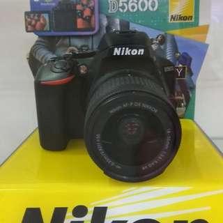 Nikon D5600 VR KIT Dp 0% + Free 1X Cicilan Tanpa CC Cuma Adm 199.000