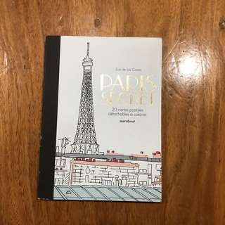Paris Secret (Coloring Book/Detachable Post Cards) in French