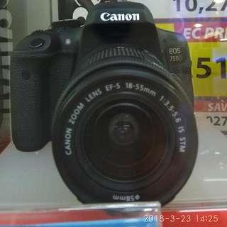 Canon EOS 750D EFS 1855IS Dp 0% + Free 1X Cicilan Tanpa Kartu Kredit