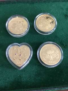 China 2015 Auspicious Culture gold coin set