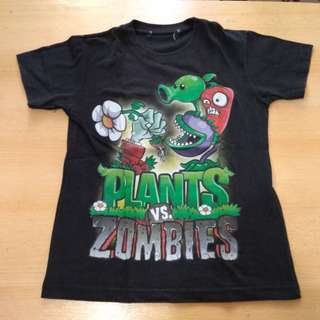 Plants vs zombies black shirt (unisex)
