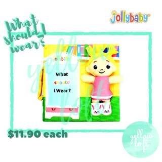 Jollybaby Quiet Book - What Should I Wear?