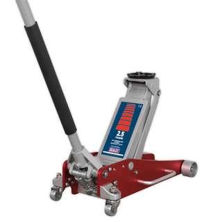 Sealey Trolley Jack 2.5 Ton Aluminium/Steel Rocket Lift