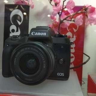 Canon EOS M5 EF15-45/BL Dp 0%+Free 1X Cicilan Tanpa CC Cukup Adm 199rb