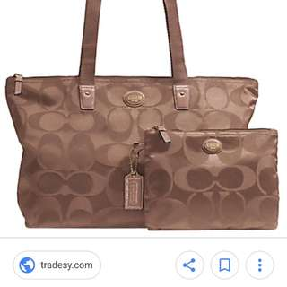 COACH F77321 SIGNATURE NYLON PACKABLE WEEKENDER NEW WITH TAGS