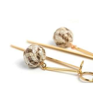 🆕 Made in KOREA 織球夾式耳環