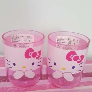 Hello Kitty Two Acrylic Cups