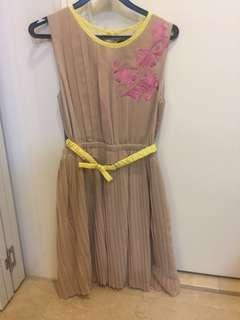 Beigh dress