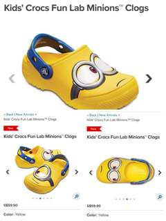Crocs minion shoes size c5
