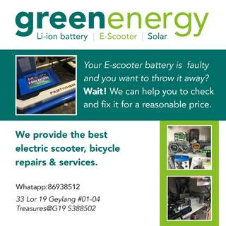 electric scooter, bicycle repairs & services