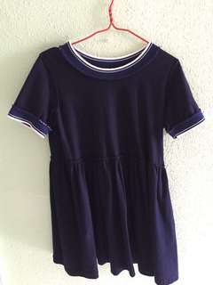 Navy blue jersey  babydoll Dress