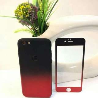 2 in 1 Casr with Tempered Glass