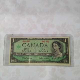 1967 $1 Canada(UNC)