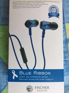 ******** PRICE REDUCTION $45 TO $38******* Blue Ribbon Earphone