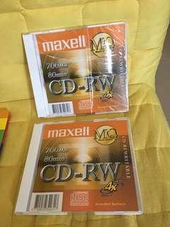 Maxell CD-RW 700MB. X 2pcs (Including postage)