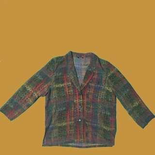 [古著] Vintage Checked Blazer 復古格仔外套