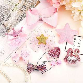 (Set 3) 10pcs hair clips hair accessories set
