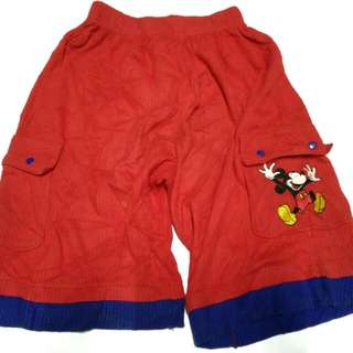 Mickey mouse short pant 7y