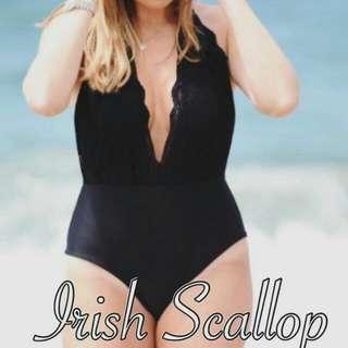 Irish Scallop One-piece Swimwear