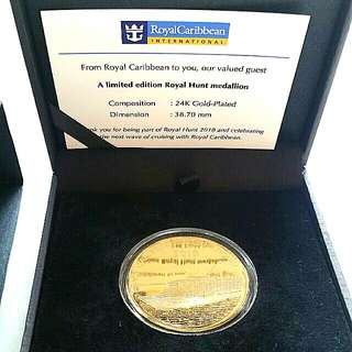 Royal Carribean 24k Gold Plated Limited Edition Medallion