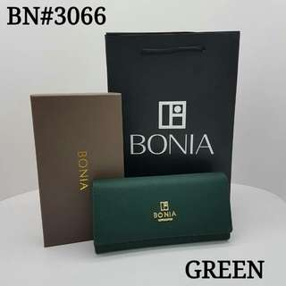 Bonia Flap Purse Green Color