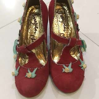 Irregular choice red shoes, 39