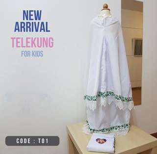 Cotton Telekung for kids