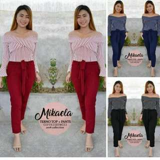 Php 350 Terno pant  💫Free size  Can fit s to m