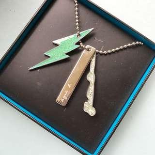 Agnès b Chain Necklace Authentic