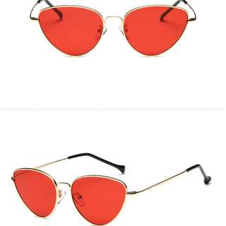 Cat Eye Sunglasses Jelly Red
