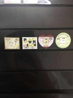 日本布甸狗信銷郵票D6(已使用)