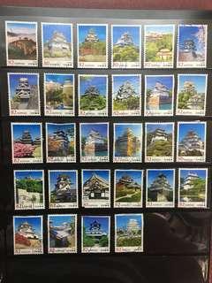 日本城堡🏯信銷郵票D8(已使用)