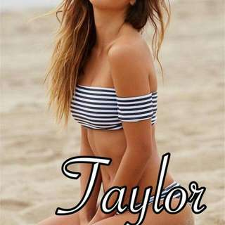 Taylor. Off Shoulder Swimsuit