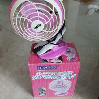 Morries pink fan