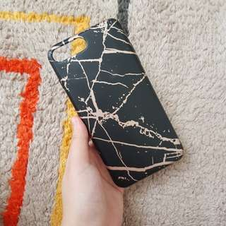Marble rosegold case iphone 7+