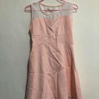 🚚 (全新M~L)OB嚴選無袖粉色洋裝「吊牌未拆」