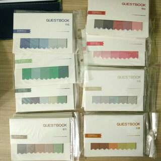 Gradient sticky notes