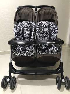 Preloved Peg Perego Aria Twin Double Stroller