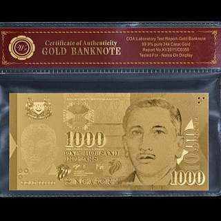 99.9% Gold 24k Note