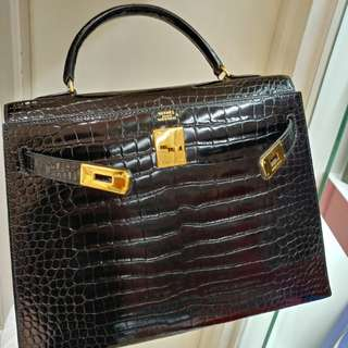 Hermes kelly 32 crocodile without strap