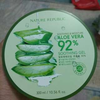Nature Republic aloe vera shooting gel ori korea