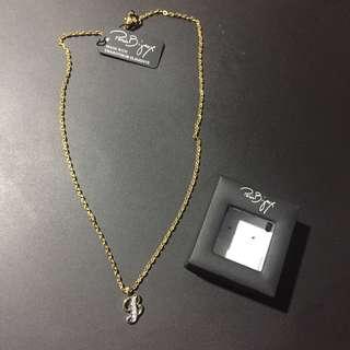 Paris bijoux initial B necklace