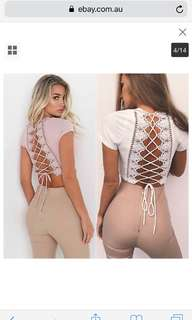 Open-Back Lace Crop