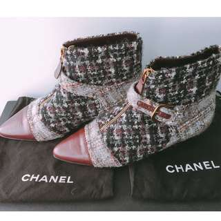 CHANEL PARIS EDINBURGH BOOTS   35.5 Size