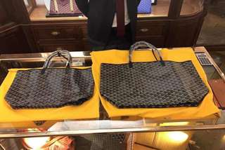 Goyard St Louis Tote Bag 購物包(附萬用小袋)黑 PM/GM