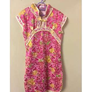 Girl cheongsam dress for 5-6years