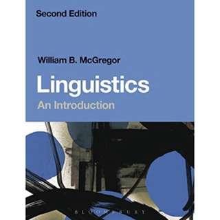 Linguistics An Introduction book William B. McGregor