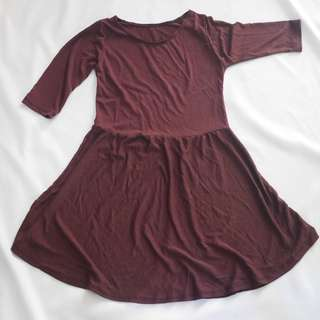 Skater dress (Elin dress in maroon)