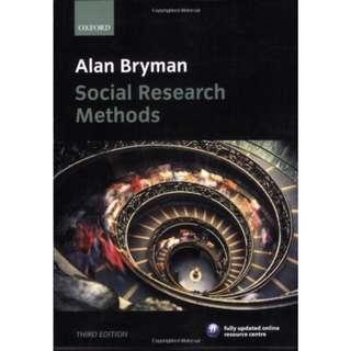 Social Research Methods book Alan Bryman
