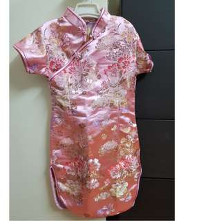 Girl cheongsam dress for 6-7 years old